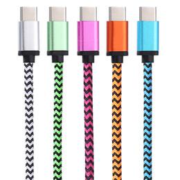 Deutschland 100 stücke 1 Mt Typ-c Kabel Ladegerät Daten Sync Nylon USB Kabel Für Android Smartphone für Moto Z Kraft LG G5 Handy Kabel Versorgung