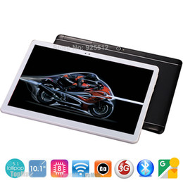 Wholesale Android Tablet 3g Wifi Unlocked - Wholesale- 2017 New 10 inch Octa Core unlock 3G WCDMA Tablet 4GB RAM 32GB ROM Dual SIM Cards Cellular Android 5.1 GPS Tablette 10 10.1 Gi