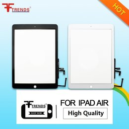Wholesale touch screen oem wholesale - OEM High Quality A+++ for iPad Air iPad 5 Glass Touch Screen With Without Home Button Full Assembly White Black Free Shipping