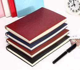 Wholesale Business Memos - 2017 new Notebook PU leather notepad custom diary office factory direct business small book free shipping