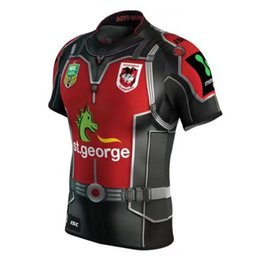 Wholesale High National - NRL National Rugby League St. George Illawarra Dragons jersey High-temperature heat transfer printing jersey Rugby Shirts