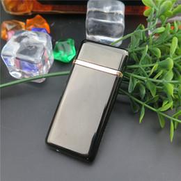 Wholesale Electronic Cigarette Alloy Case - super mini USB Electronic Rechargeable Flameless zinc Alloy Eco-friendly Lighter with gift Cigarette case