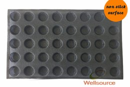 Wholesale Silicone Tart Pans - 2 Inch Diameter Small Muffin Mold Non Stick Perforated Silicone Shallow Round Tatin Apple Tart Pan Mince Pie Pan with 40 Molds