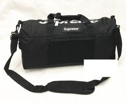Wholesale Duffle Style Handbags - Brand Sup Handbags Letter Big capacity Bucket bag Travel Shoulder bags Duffle Striped Beach Bag Unisex Street