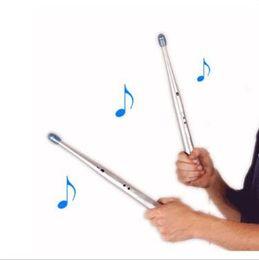 Wholesale Drum Rhythms - 500pcs CCA1966 Electronic Musical Drumstick Novelty Gift Educational Toy Kids Electric Drum Sticks Rhythm Percussion Air Finger Stix Kit
