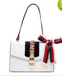 Wholesale Leather Rosette - free shipping Women Fashion PU Leather Famous Designer Shoulder Bag Handbags chain bag cross-body rosette sylvie hand bag
