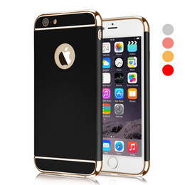 Wholesale plated armor - Case for iphone 6 7 X Man Ultra Thin Phone Case Shockproof Armor Plated Frame Back Cover Case for Samung S9 S9 Mixed