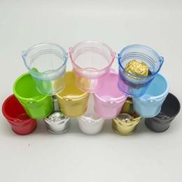 Wholesale Decorative Buckets Wedding - 8 Colors--24pcs lot individuation Mini colorized plastic bucket candy box Wedding Supplies gift boxes decorative buckets