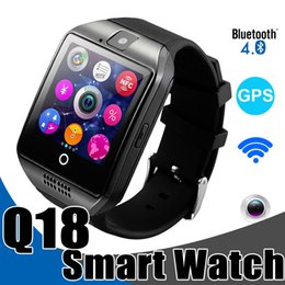 Wholesale Watches Sim Card - Smart Watches Q18 Bluetooth Smartwatch for IOS Android Phones with SIM Card Slot NFC Connection Smart Watch with Retail Package