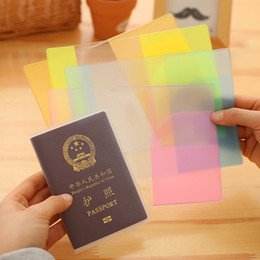 Wholesale Pvc Price Holder - Waterproof Clear Transparent Passport Cover for Women and Men Pasport Holder Cheap Wholesale Price