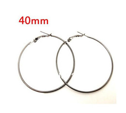 Wholesale Wine Glass Rings Hoops - 100PCS Vintage Gold Silver Wine Glass Charm Ring Earring Hoops Dangle Drop For Women Jewelry Gifts 40mm DIY Jewelry Accessories P2186