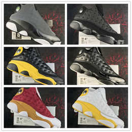 Wholesale Super Cats - 2017 New Air Retro 13 Black Cat 3M Ellis Kawhi Leonard All star Game 13s Basketball Shoes for Super quality XIII Training Sneakers Size 7-13