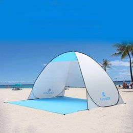 Wholesale Base Camp Tent - Beach tents outdoor automatic quick opening convenient ultra-thin folding Tent cloth a variety of colors double fishing Tarpaulin