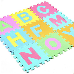 Wholesale Kids Rugs Wholesale - kids baby play mat puzzle mats playing carpet children's developing crawling rugs babies puzzle number letter animal  fruit foam
