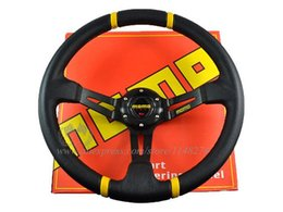Wholesale Drifting Steering - New Arrivals:350mm MOMO Deep Corn Drifting Steering Wheel (PVC) in stock universal