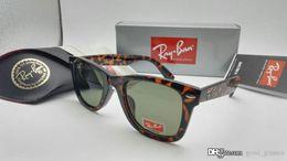 Wholesale Cat Bands - New Cat Eye Wayfarers RAY Sunglasses Men Women Vintage 50mm Brand Sun Glasses Bands Mirror Gafas de sol BANS BEN 2140 with cases