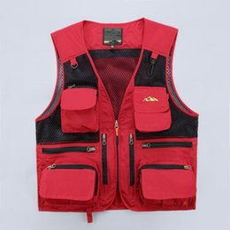 Wholesale Polyester Web - Wholesale- Web vest multi-pocket journalist director mountaineering photography vest fisherman males