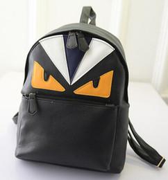 Wholesale Harajuku Bags Shoulder - Wholesale- NEW fashion ulzzang harajuku Little monsters women's backpack preppy style men's devil eyes schoolbag shoulder bag