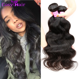 Wholesale Indian Brazil Hair - Human Hair Weave Brazil Malaysia Indian Virgin Human Hair Cambodian Body Wave Bundles Hair Body Wave Bundles Top Quality Double Weft