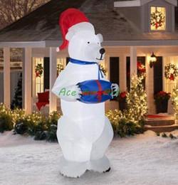 Wholesale Balloon Animals Bear - New design marvelous shape animal shaped 3D motif decoration Christmas polar bear for outdoor Christmas decorating