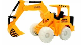 Wholesale Toy Bulldozers - Electric universal fork music lights simulation mining bulldozer digging truck of remote control toys for children