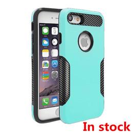Wholesale Purple Mints - Hybrid Armor Case For iphone x 6 7 8 plus For galaxy note 8 S8 plus J7 PRO Carbon Fiber Captain Case