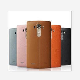Wholesale G4 Batteries - For LG G4 Real Plastic Replacement Battery Rear Back Door Cover Case Housing with NFC