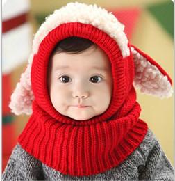 Wholesale Girls Hats Scarves - Christmas Gift Baby hats Pom knit yarn warm hat girls boys beanie winter toddler kids boy girl warm crochet cap scarf Scarves