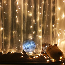 Wholesale Gazebo Lights - Wholesale- 3*1M 300LED Copper Curtain Light Holiday Xmas Decoration Icicle Lighting String for Christmas Wedding Gazebo Water Sprayproof