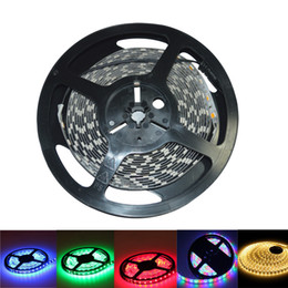 Wholesale Flat Leds - free shipping 100m lot 3528 5050 SMD RGB 12V Waterproof Non-waterproof Led flexible strips light 300 Leds 5M double side good quality 2016