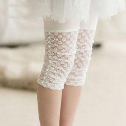 Wholesale Toddler White Lace Leggings - Baby Girls White Lace Tights Thin Toddler Beaded Leggings Socks Kids Candy Color Leggings Girls Fashion Summer Cute Dress Sock 009#