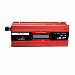 Wholesale Inverter 2kw - 2000W grid-tie-inverter 12v to 220v modified sine power inverter 2kw charger sine wave with sigital display