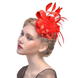 Yeni 2019 Gelin Saç Süslemeleri Ile Parti Balo Akşam Şapkalar Için Çiçek Tüy Firkete Fascinator Şapkalar, 7 Renkler nereden