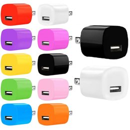 Wholesale Dual Usb Ac - 100pcs Colorful 5V 1A Single usb 2A+1A Dual usb ports US Eu Ac home wall charger plug adapter for iphone 6 7 htc lg for samsung s6 s7 edge