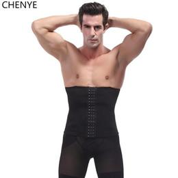 Wholesale Men Stomach Belt - male waist trainer steel bone vest body shaper tummy tuck belt weight loss corset belly reducer stomach belt hot shapers girdle