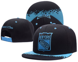 Wholesale Snapback Caps New York - 7 Colors-Wholesale NHL Snapback Hats New York Rangers Baseball Caps Hip Hop Rangers Ice Hockey Sport Team Caps Adjustable Free Shipping