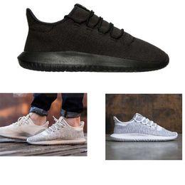 Wholesale Sportswear Running Shoes - Drop Shipping 2017 Mens Womens Tubular Shadow Knit Core Black White Cardboard Sneakers Running Shoes Sportswear Sneakers