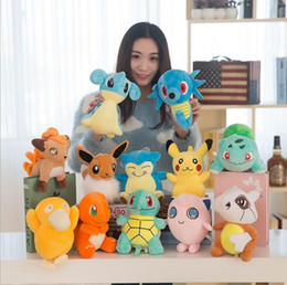 Wholesale Stuffed Animals Toys Plush Doll - Poke Plush Toys 20-23cm Pocket Monster Stuffed Animal Doll Squirtle Pikachu Charmander Baby Toy gifts 13 Designs OOA1273