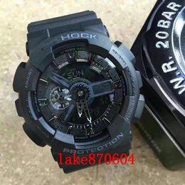 Wholesale Post Display - AAA shock box FREE shipping HK-POSt g Men Dual Display Wristwatches Digital Quartz Watch Chronograph Waterproof Relogio Masculino watches