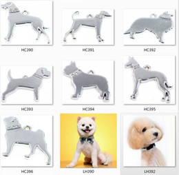 Wholesale Hot Sale Dog Charms - Hot sale 50pcs wholesale mix silver polish dog tags hang pendant charms hang charms dangle charms DIY Key Chain Keyrings Jewelry Making