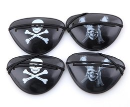 Wholesale Wholesale Pirate Eye Patch - New Christmas Halloween Costume Kids Toy Eye Patch Blindage accessories pirate One-eye Pirate Eye Patch Mask with Flexible Rope