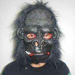 Wholesale Wholesale Scary Heads - halloween horror mask black face masks Adult vivid full head facial mask Animal latex Halloween party props animal silicone Horror Scary