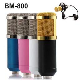 2019 estudios kit BM-800 Condensador dinámico de grabación con cable Micrófono Estudio de sonido con montaje de choque para el kit de grabación KTV Karaoke de alta calidad OTH330 estudios kit baratos
