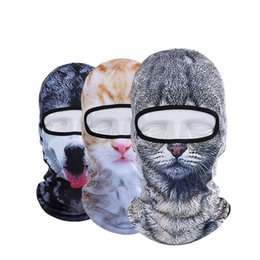 Wholesale Dog Veil - Hot Sale 2016 3D Cap Dog Animal Outdoor Sports Bicycle Cycling Motorcycle Masks Ski Hood Hat Veil Balaclava UV Full Face Mask