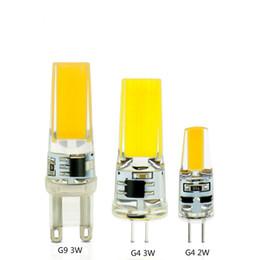 Wholesale G9 Cob Led Warm White - Real Power LED G4 G9 Lamp Bulb AC DC 12V 220V 2W 3W COB SMD LED Lighting Lights replace Halogen Spotlight Chandelier