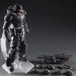 27cm Play Arts Kai PA Marcus Fenix ​​Jeu Gears of War 3 Machine de guerre Collection d'action Collection Toy modèle Livraison gratuite à partir de fabricateur