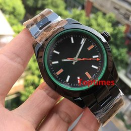 Wholesale Mens Automatic Water Resistant Watches - Mens Luxury Brand Automatic Mechanical Wrist Role Watch 116400 Stainless Steel Hardlex Folding Buckle Men Water Resistant Casual Watches