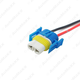 Wholesale H8 Connector - FEELDO H11 H8 Heavy Duty Loose Wiring Ceramic Socket Plug Connectors Adapter Pigtails For Headlights Fog Lamps #5468