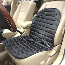 Pad invernale riscaldata dall'automobile online-Cuscino del sedile riscaldato per l'inverno Coprivalvola del riscaldatore per il riscaldamento 12 V per auto con accendisigari nero