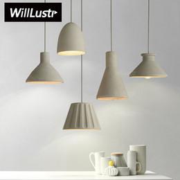 Wholesale Hotels Island - Willlustr cement pendant Lamp concrete hanging light modern suspension lighting dinning room kitchen island hotel restaurant bar